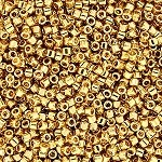 Size 8 Delica Beads, 24k Gold, DBL-0031