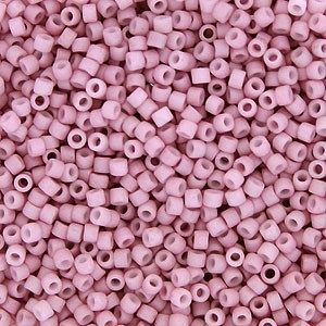 Matte Rose Delicas, Size 11 Delica Seed Beads