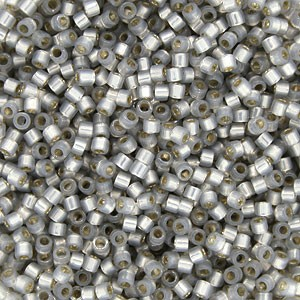 Grey Opal Silver Lined Semi-Matte Delicas, Size 11 Delica Seed Beads