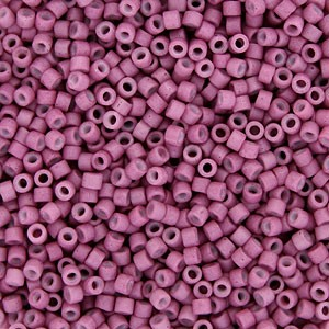 Size 11 Delica Beads, Semi-Matte Opaque Deep Rose, DB0800