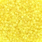 Matte Transparent Lemon Yellow AB Delicas, Size 11 Delica Seed Beads