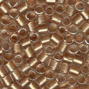 Size 8 Delica Beads, Rose Gold ICL with Sparkle, DBL-0901