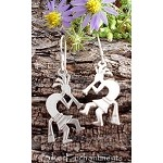 Sterling Silver Kokopelli Earrings, Double-sided
