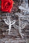 Sterling Silver Fairy Earrings, Nymph Slyph