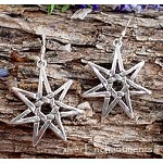 Sterling Silver Septagram Earrings, 7-pointed Fairy Star Earrings