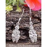 Sterling Silver Venus of Willendorf Earrings