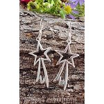 Star Earrings, Sterling Silver Shooting Star Earrings, Celestial Jewelry