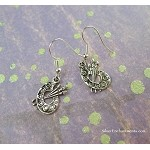 Silver Painter's Palette Earrings, Artist Jewelry