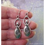 Silver Goddess Earrings - Everyday Spiral Goddess Jewelry