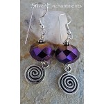 Purple Mystique Spiral Earrings