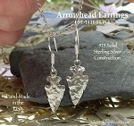 Sterling Silver Arrowhead Earrings