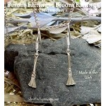 Sterling Silver Broom Earrings, Besom Earrings