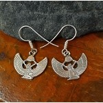 Isis Earrings, Sterling Silver Egyptian Goddess Earrings
