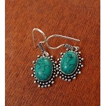 Turquoise Earrings, Bohemian Gemstone Earrings