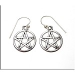 Pentacle Earrings - Everyday Silver Spiritual Earrings