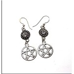 Crystal Pentacle Earrings