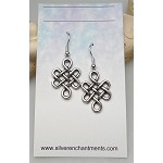 Silver Celtic Earrings, Celtic Jewelry - Everyday Silver Earrings