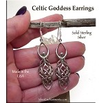 Sterling Silver Celtic Goddess Earrings