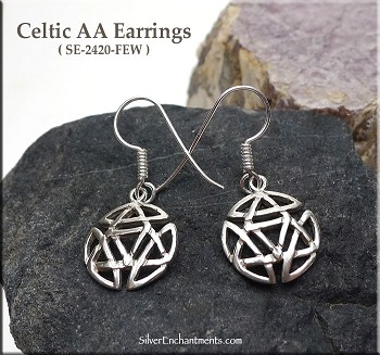 Sterling Silver Celtic Alcoholics Anonymous Earrings
