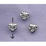 Sterling Silver 6mm Fancy Heart Bead