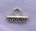 Sterling Silver 5 to 1 Jewelry Connector, 13mm