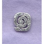 Sterling Silver Hammered Spiral Jewelry Connector, 14mm