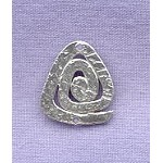 Sterling Silver Hammered Spiral Pyramid Jewelry Connector, 17x15mm