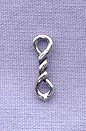 Sterling Silver Small Twist Link Connector Finding, 11mm