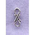 Sterling Silver Infinity Link Beading Connector Jewelry Finding, 11x4mm