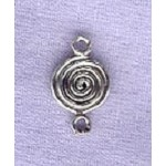 Sterling Silver Celtic Spiral Connector Finding, 13x8mm