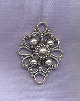 Sterling Silver Fancy Jewelry Connector Link