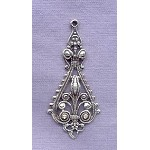 Sterling Silver Long Ornate Dangler, Connector, Chandelier Jewelry Finding