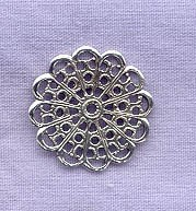 Sterling Silver Filigree Circle Component