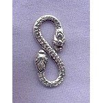 Sterling Silver Snake S-Hook Clasp, 28mm Snake Jewelry Clasp