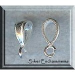 Sterling Silver Bail, .925 Silver Jewelry Bale, 15x5mm (1)