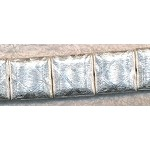 Diamond Cut Square Beads, Brushed Silver 20mm Pillow (2)