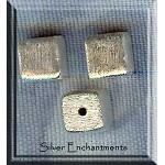 Sterling Silver Cube Beads, 8mm Brushed (1)