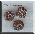 Ornate Copper Beads, 10mm (2)