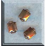 Copper Beads, Pillow Rectangle Beads, 8x6mm (2)