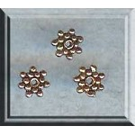 Copper Spacers, 6mm Snowflake (10)