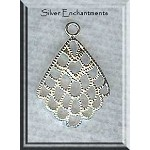 Sterling Silver Filigree Scallop Chandelier Earring Findings (2)