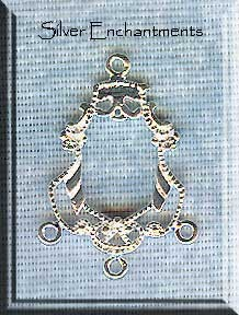 Sterling Silver Victorian 3 Drop Jewelry Findings (2)