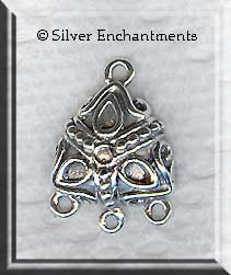 Sterling Silver Domed Boho Earring Parts (2)