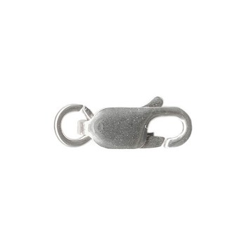 Sterling Silver Lobster Clasp w Ring, 12mm