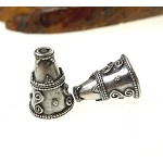 Fancy Jewelry Making Cones with 11mm Opening, Sterling Silver (2)