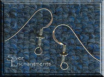 Sterling Silver French Earring Hooks with Coil & Daisy Accent, Pair