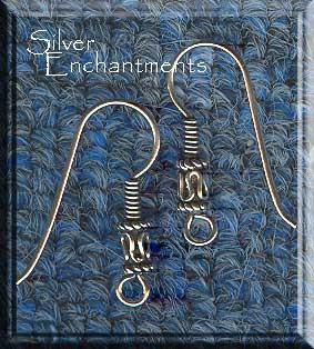 Sterling Silver Bali Bead Earring Hooks, Sterling Earwires, 5-Pair Bag