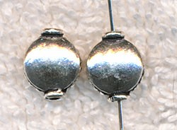 Sterling Silver Fluted Edge Coin Beads (2)