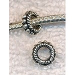 Sterling Silver Large Hole Beads 9mm 6mm Hole (2)
