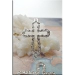 Crystal Cross Connectors, Christian Jewelry Findings